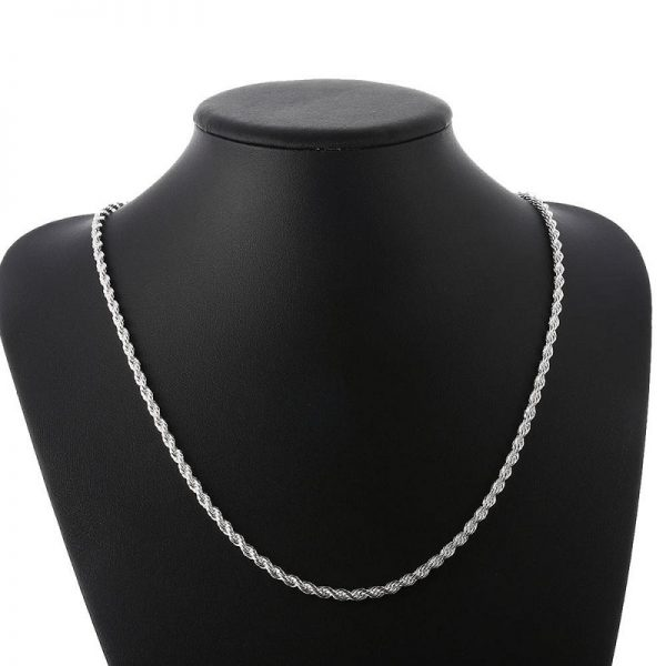 Chaine maille corde argent Frenchy Cambodge