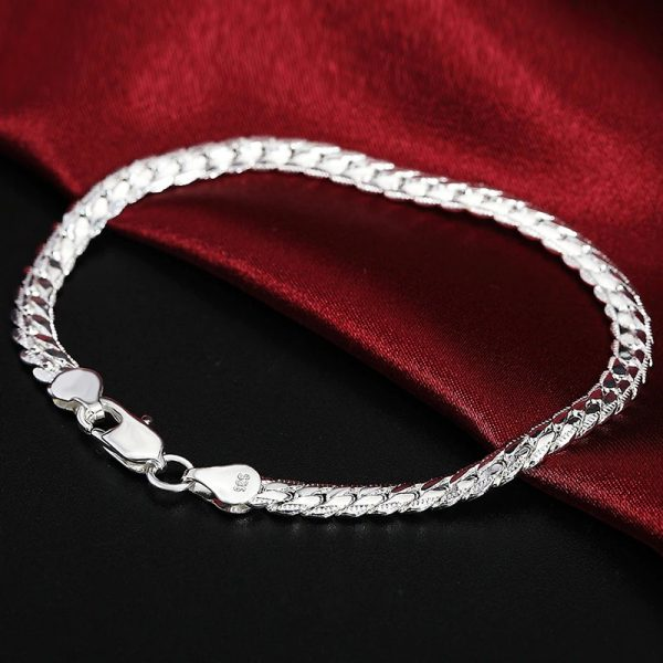 Chaine bracelet maille anglaise argent
